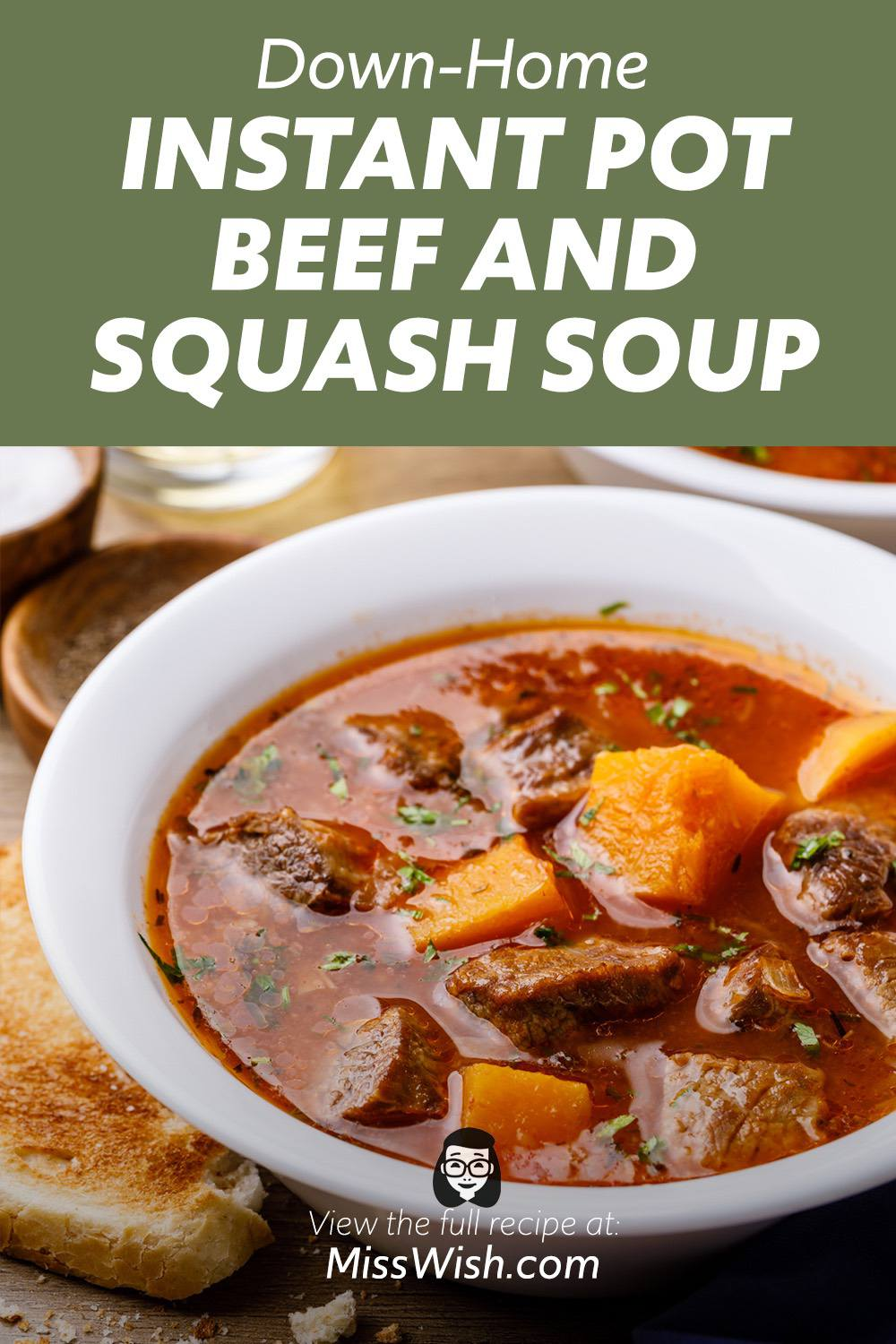 Instant Pot Bone Broth Beef and Squash Soup