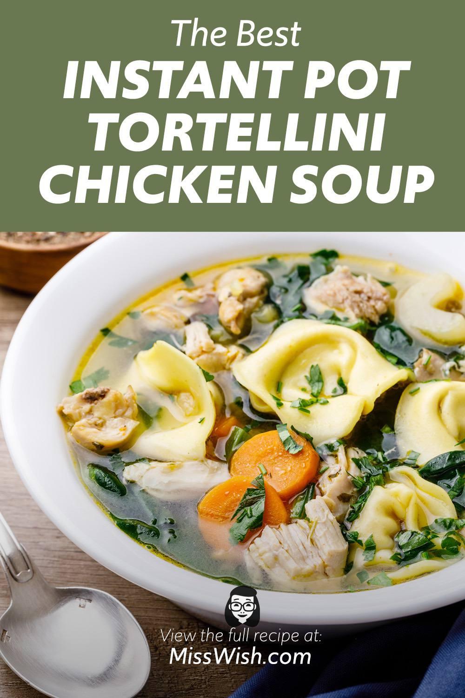 Instant Pot Chicken Tortellini Bone Broth Soup