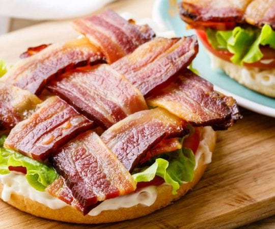 Oven Baked Bacon Weave