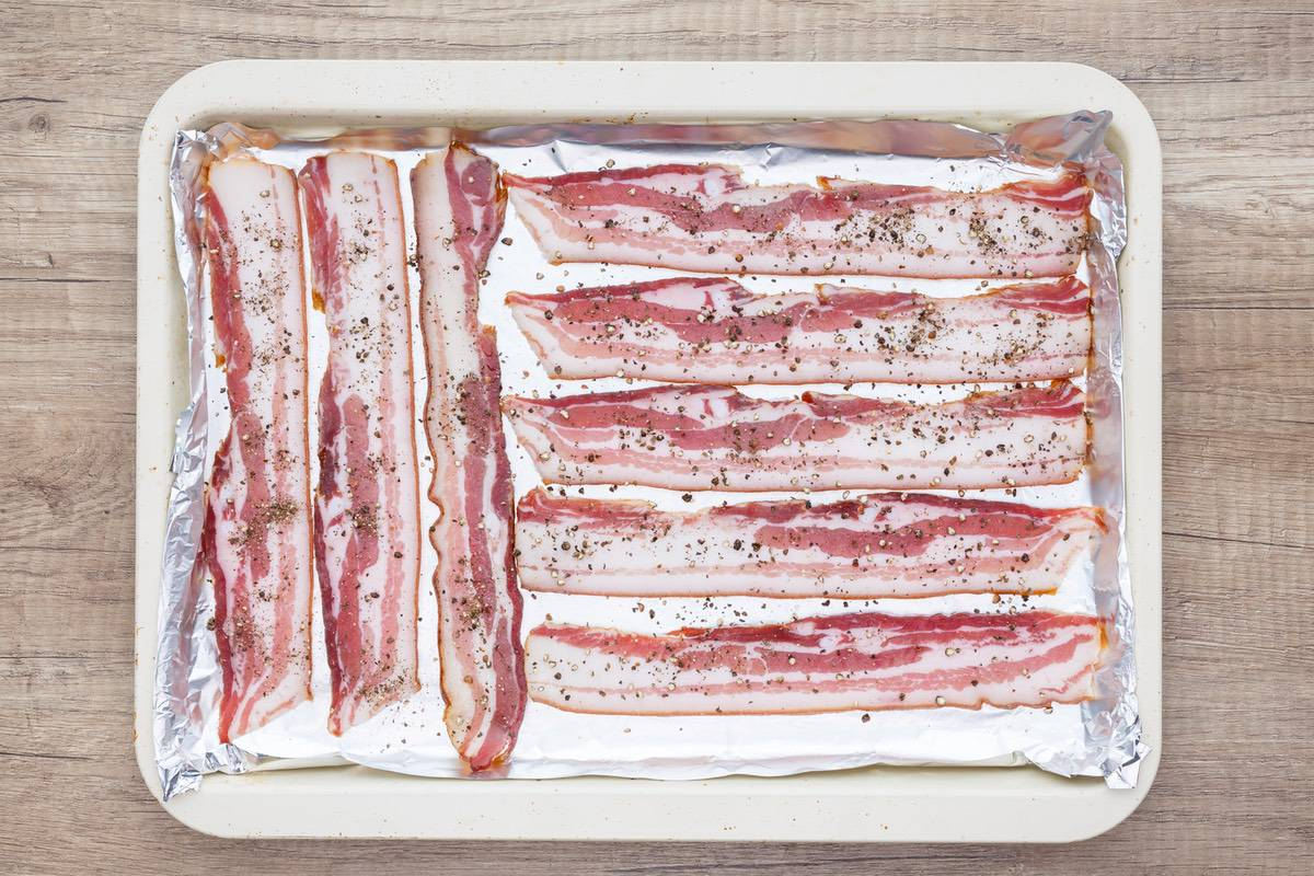 Oven Baked Pepper Bacon