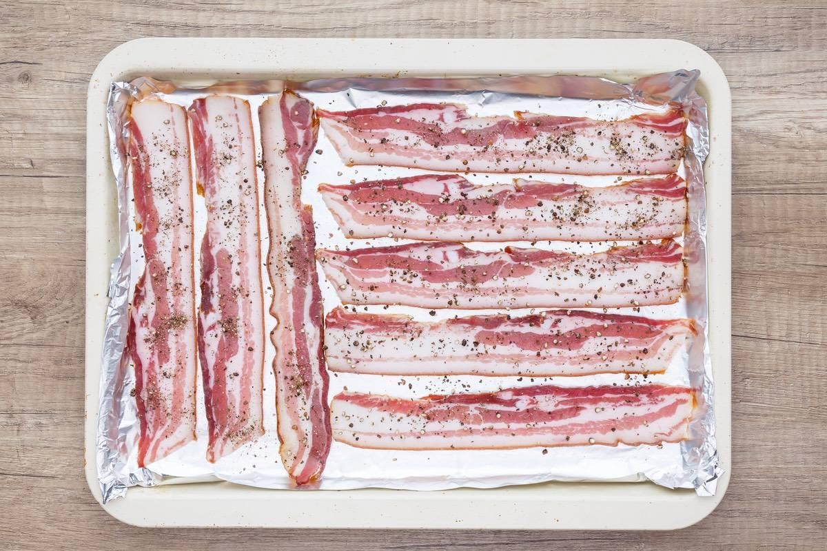 Oven Baked Pepper Bacon
