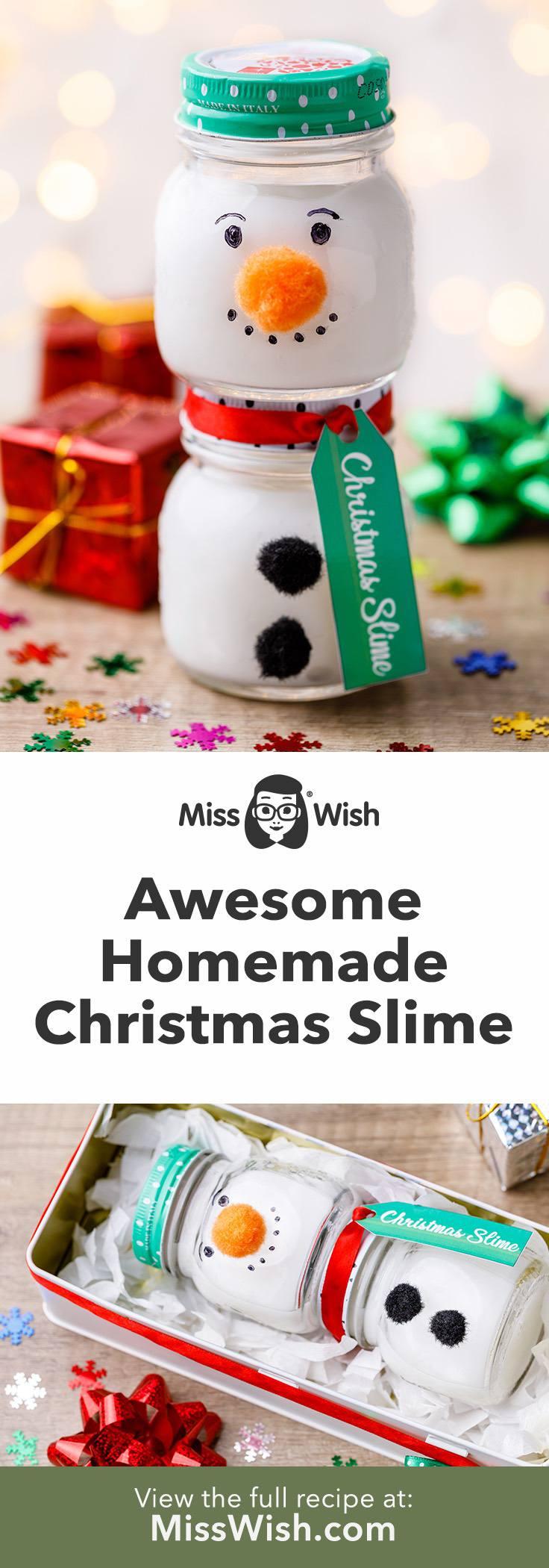 Awesome Homemade Christmas Slime Made with Glue