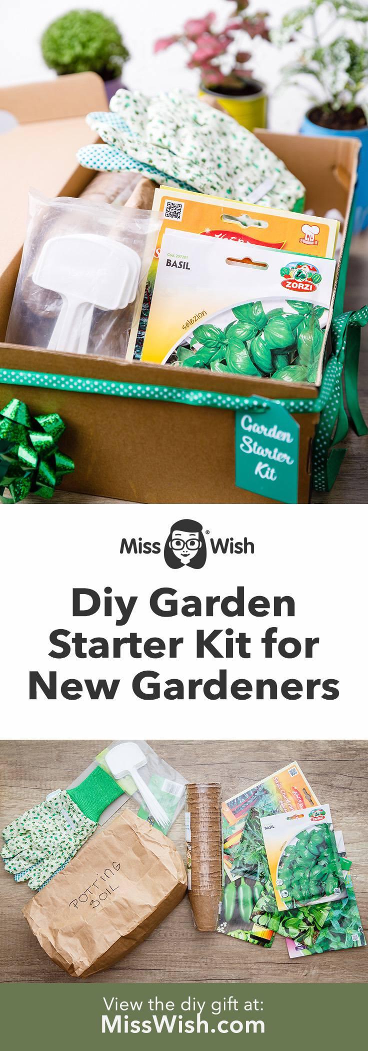 Homemade Garden Starter Kit Gift Set for New Gardeners