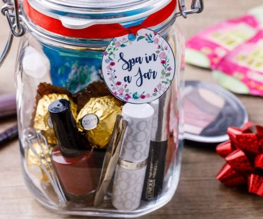 Diy Spa Gift In A Jar