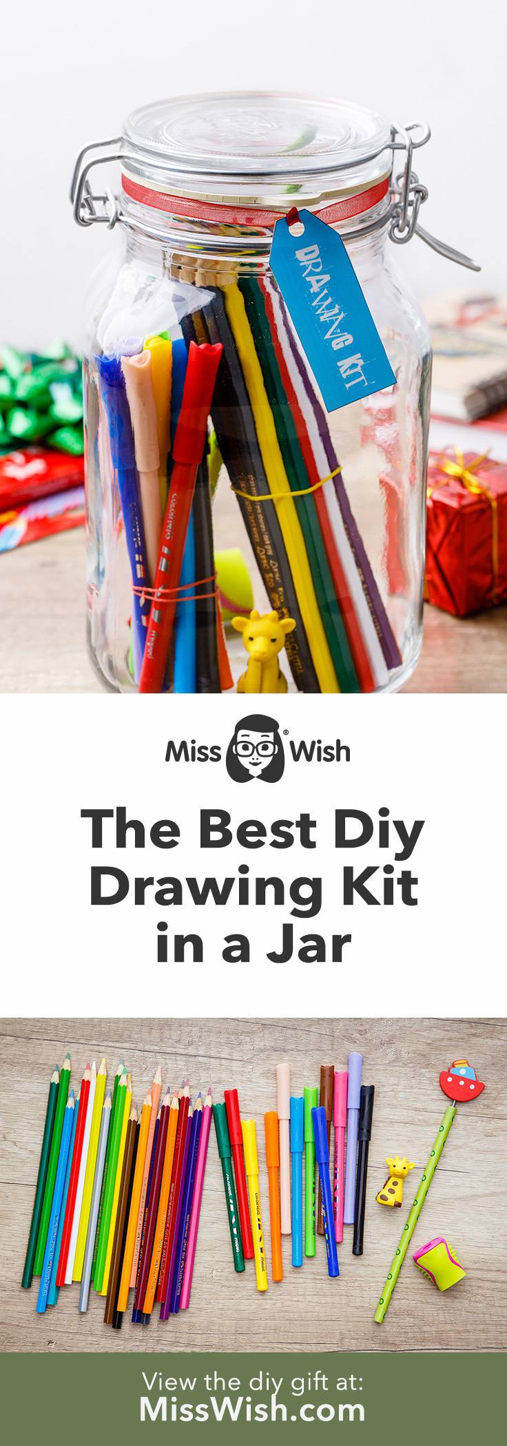 Easy Homemade Drawing Kit Gift Set for Kids And Adults