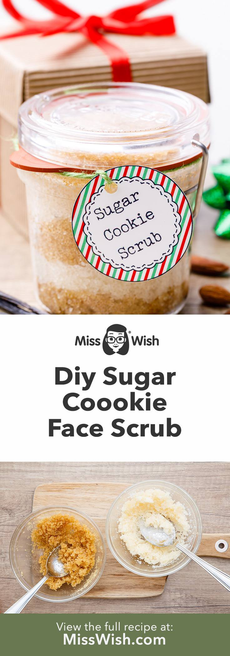 Homemade Christmas Sugar Cookie Face Scrub