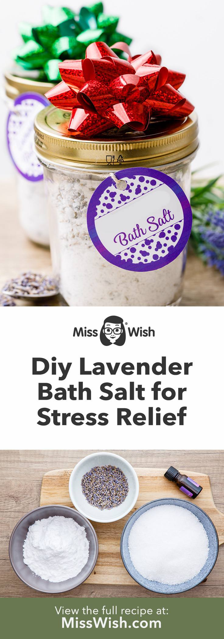 Lavender Epsom Bath Salt for Relaxation and Better Sleep