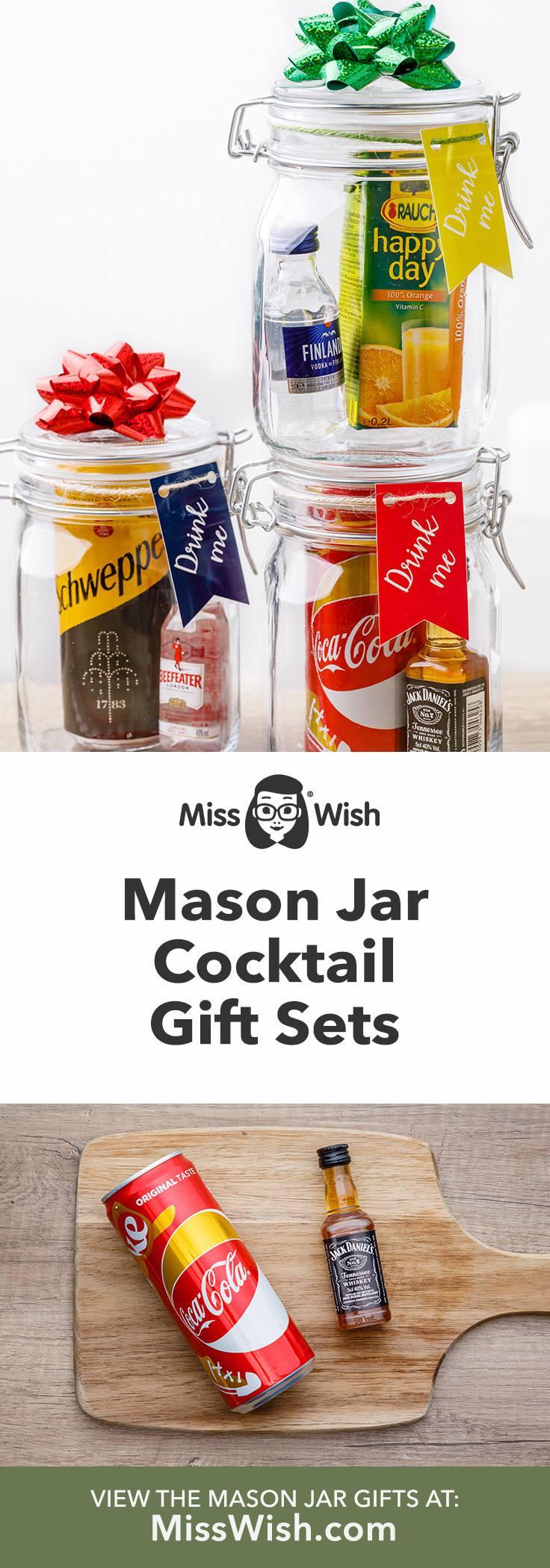 3 Easy Diy Mason Jar Cocktail Gift Sets in a Jar