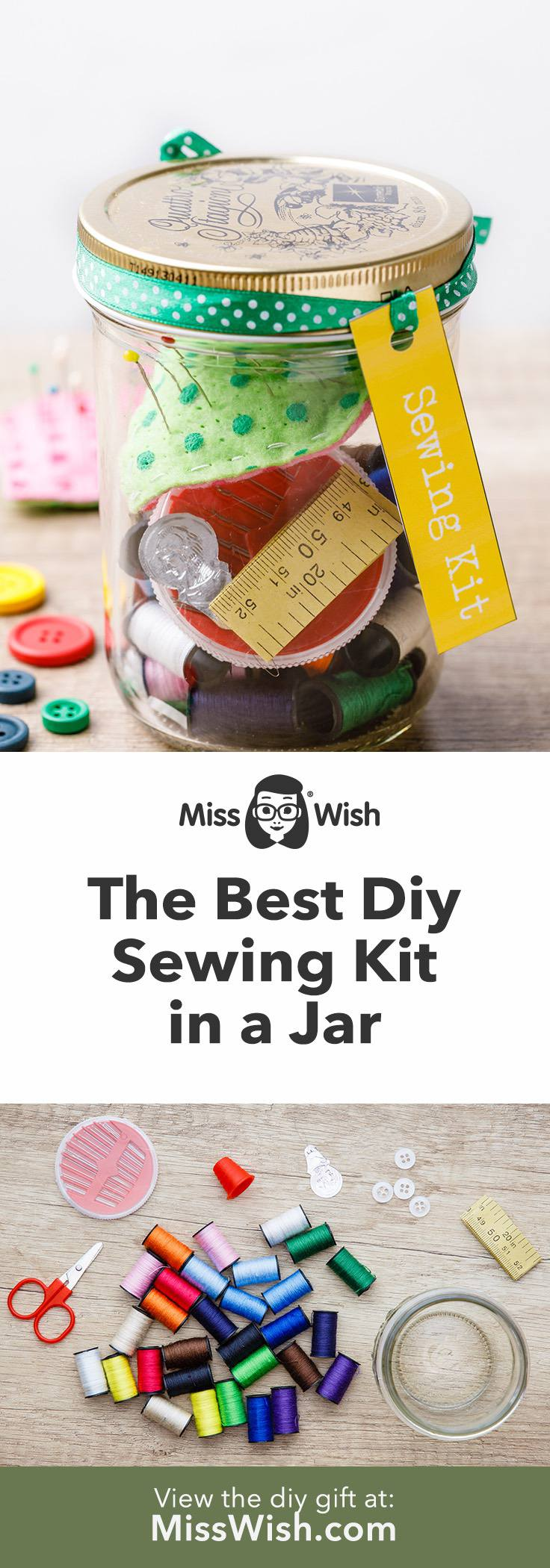 Diy Sewing Kit Gift for Crafty People