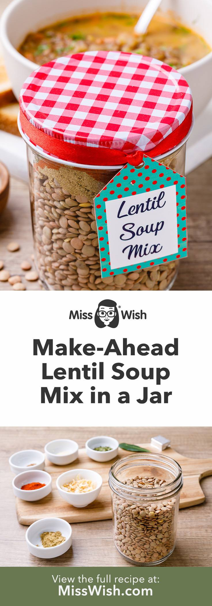 Make-Ahead Lentil Soup Mix Recipe for a Hearty and Healthy Meal