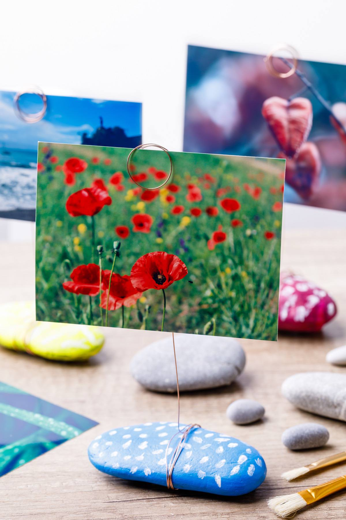Painted Rock Photo Holders Diy Kids Gift