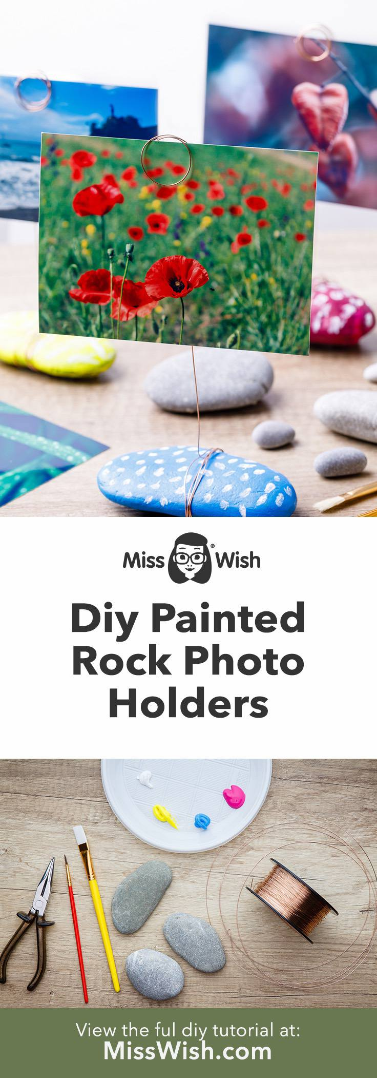 Diy Painted Rock Photo Holders