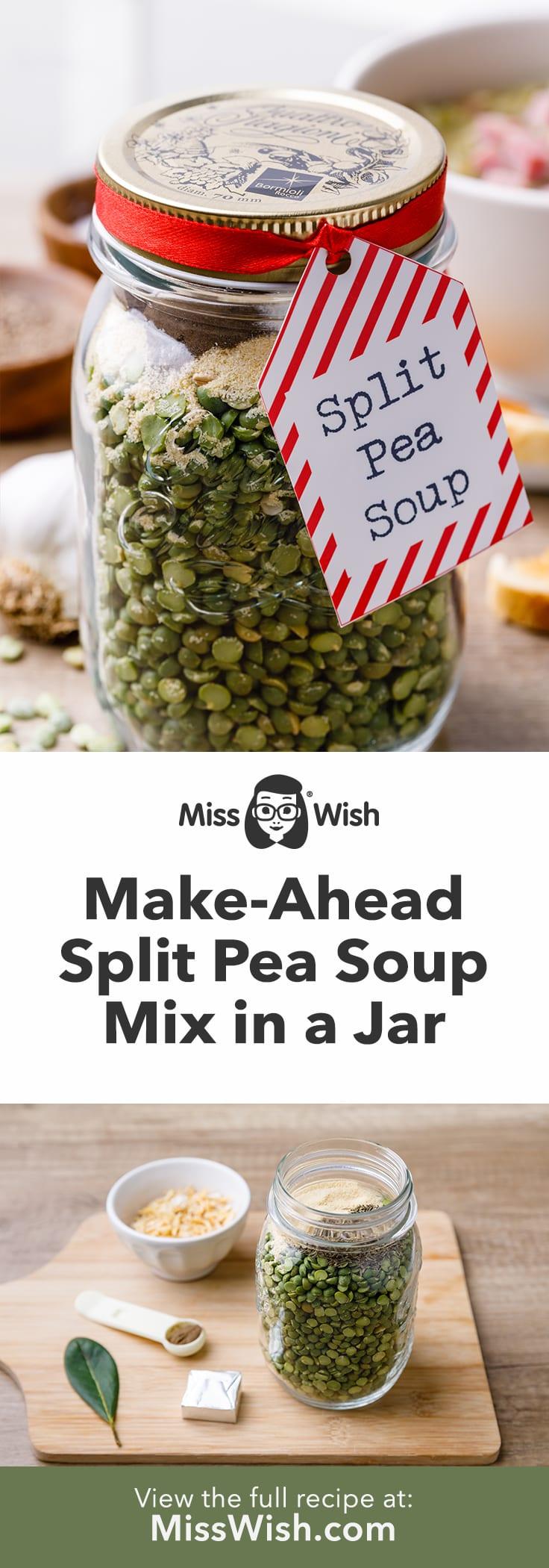 Make-Ahead Split Pea Soup Mix in a Jar